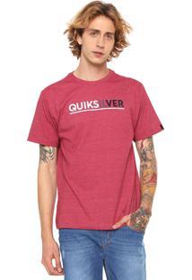 Camiseta Quiksilver Logo Vermelha