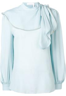See By Chloé Draped Detail Blouse - Azul