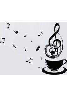 Adesivo De Parede Divanet Notas Musicais Preto