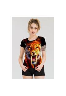Camiseta Stompy Estampada Feminina Modelo 37 Preta
