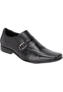 Sapato Social Masculino Em Couro Leoppé - Masculino-Preto