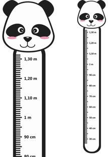 Adesivo Régua De Crescimento Panda
