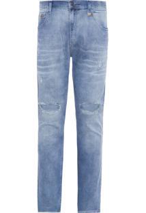 Calça Masculina H.Comfort Power Skinny Couro - Azul