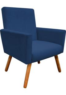 Poltrona Decorativa Nina Peach Azul Marinho D'Rossi