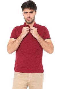 Camisa Polo Malwee Slim Quadrados Vermelha