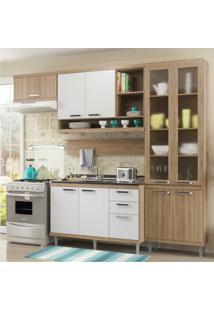 Cozinha Completa Multimóveis Com 5 Peças Sicília 5816 Argila/Branco