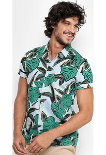 Camisa Lacoste Live Mc Skinny Fit Costela De Adão Masculina - Masculino