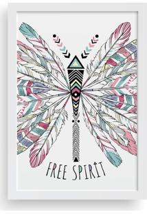 Quadro Love Decor Decorativo Com Moldura Free Spirit Boho