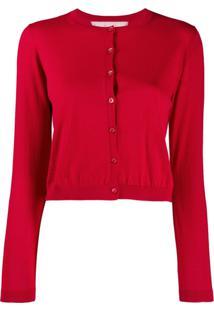 Red Valentino Cardigan Com Abotoamento - Vermelho