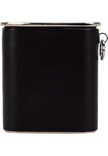 Yohji Yamamoto Porta Celular De Couro - Preto