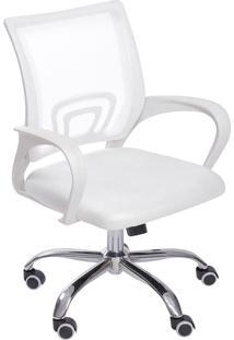 Cadeira Para Escritório Com Rodízios Tok 3310-Or Design - Branco