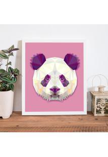 Quadro Decorativo Com Moldura Abstrato Panda