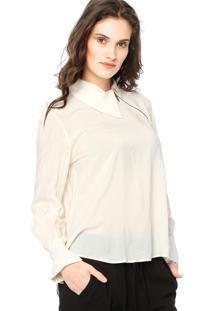 bae5022ed8f6f5 Camisa Triton Evasê Off-White