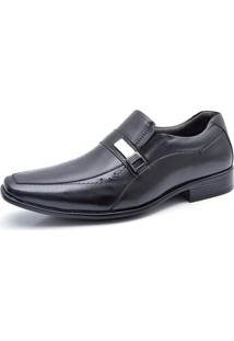 Sapato Social Fork Dia E Noite Preto.