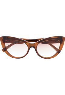 Versace Eyewear Óculos De Sol Gatinho Medusa - Marrom