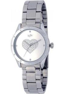 Relógio Feminino Heart Zw10079-S - Unissex-Prata+Chumbo
