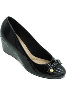 Sapato Beira Rio Verniz Premium Preto - Kanui