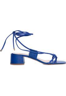 Sandália Feminina Salto Bloco - Azul