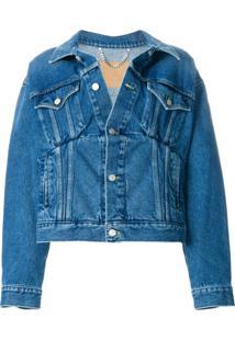 Balenciaga Jaqueta Jeans 'Swing' - Azul