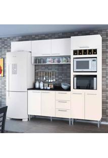 Cozinha Compacta Yasmin 8 Pt 3 Gv Branca