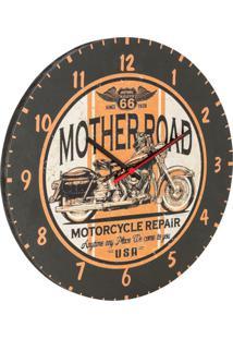 Relógio De Parede Rout 66 Preto