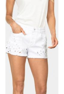 Shorts Miami Jeans Com Bordado Branco - Lez A Lez