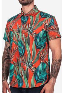 Camisa Tropical Vermelha 200150