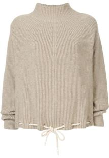 Bassike Drawstring Hem Sweater - Marrom