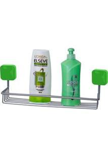 Porta Shampoo De Parede Metaltru Cromo Linha Pastilha