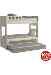 Treliche 3 Gavetas Com Escada 100% Mdf 908910 Marfim Areia/Demolição - Foscarini
