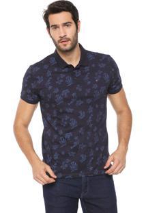 Camisa Polo Aramis Reta Flores Azul-Marinho