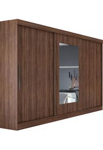 Guarda Roupa Casal Com Espelho 3 Portas 4 Gavetas Montebello