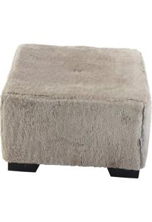 Puff Cubo Large Pelúcia - Stay Puff - Camel