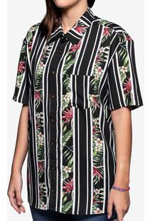 Camisa Viscose Listra Floral 800036