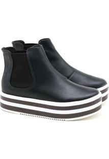 Ankle Boot Vizzano Flatform Preto