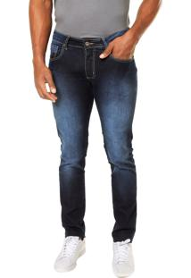 Calça Jeans Sommer Slim Estonada Azul
