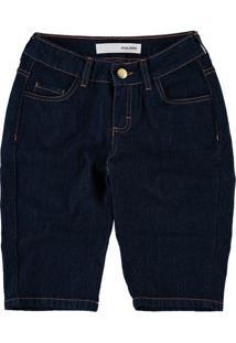 Bermuda Slim Jeans Malwee Azul Escuro - 52