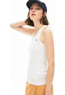 Camiseta Lacoste Slim Fit Branco