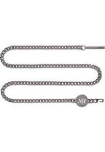 Cinto Cintura Quadril Colar Skinny Com Corrente Cinza - M