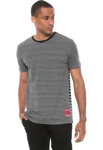 Camiseta Calvin Klein Jeans Listrada Cinza