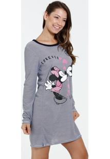 Camisola Feminina Estampa Minnie E Mickey Disney