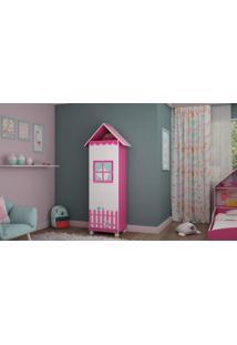 Sapateira Casinha 1 Porta C/ Pés Pink Ploc Gelius Móveis - Tricae
