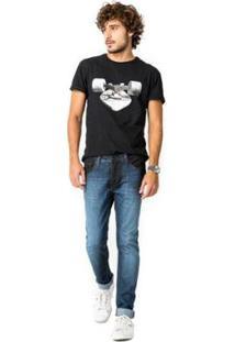 Calca Jeans +5561 Mambai Resinada Reserva Masculina - Masculino-Jeans