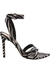 Sandália Stiletto Zebra Print | Schutz