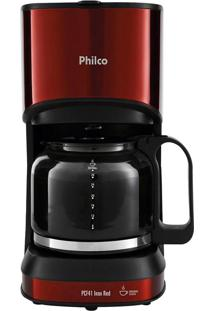 Cafeteira Philco Pcf41 Inox Red, 30 Cafés - 220 Volts