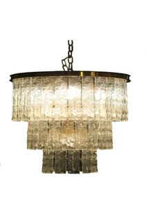 Lustre- Pashmina- Metal/Pedra Natural Banhado A Ouro- Dourado - Kanui