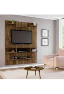 Painel Para Tv Até 55 Polegadas Sigma Madeira Rústicae Madeira 3D