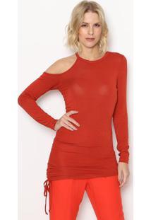 Blusa Assimã©Trica Com Vazado- Vermelha- Sommersommer