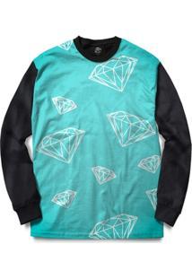 Blusa Bsc Diamonds Full Print - Masculino