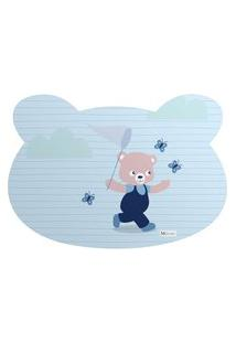 Tapete Pet Mdecore Urso Urso Azul 54X39Cm